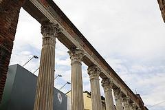 roman columns holding up