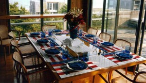 dinner held by friends on my  first July 4th as an American Citizen