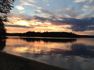 papineau lake sunset